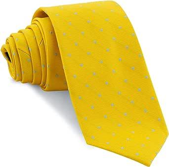 Cencibel Smart Casual Corbata Lunares o Topos (Fondo Amarillo Lunares Celestes): Amazon.es: Ropa y accesorios