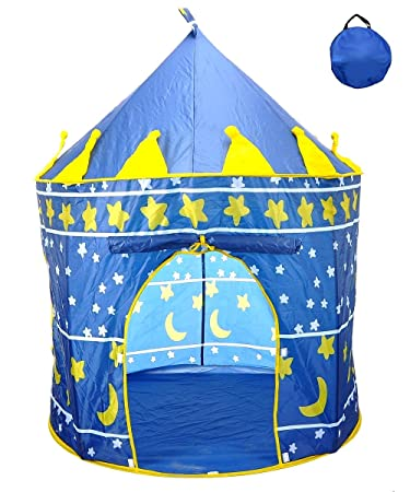 Star Castle Prince House Indoor Boys Blue Tent Ourdoor Kids Play Hut by POCO DIVO  sc 1 st  Amazon.com & Amazon.com: Star Castle Prince House Indoor Boys Blue Tent Ourdoor ...