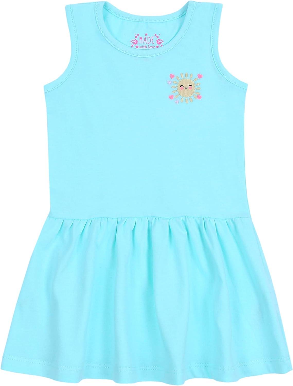 sarcia.eu 2X Pink//Blue Sleeveless Flared Dress for Baby Girls