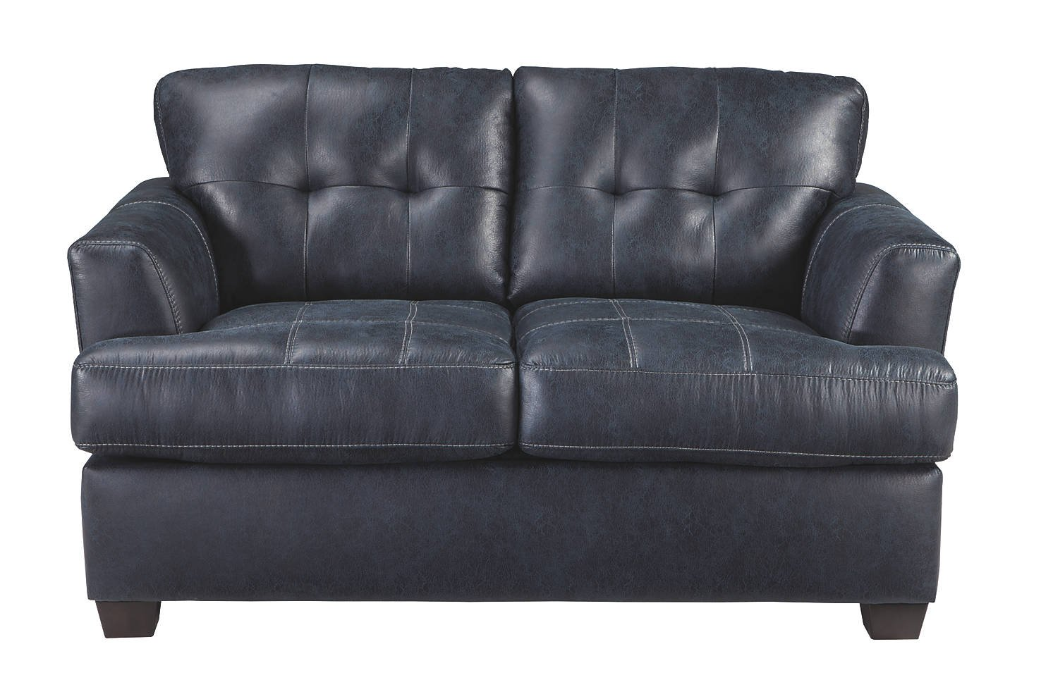 Ashley Inmon 6580635 63'' Loveseat with Faux Leather Low Melt Fiber Wrapped Over Foam and Contemporary Style in