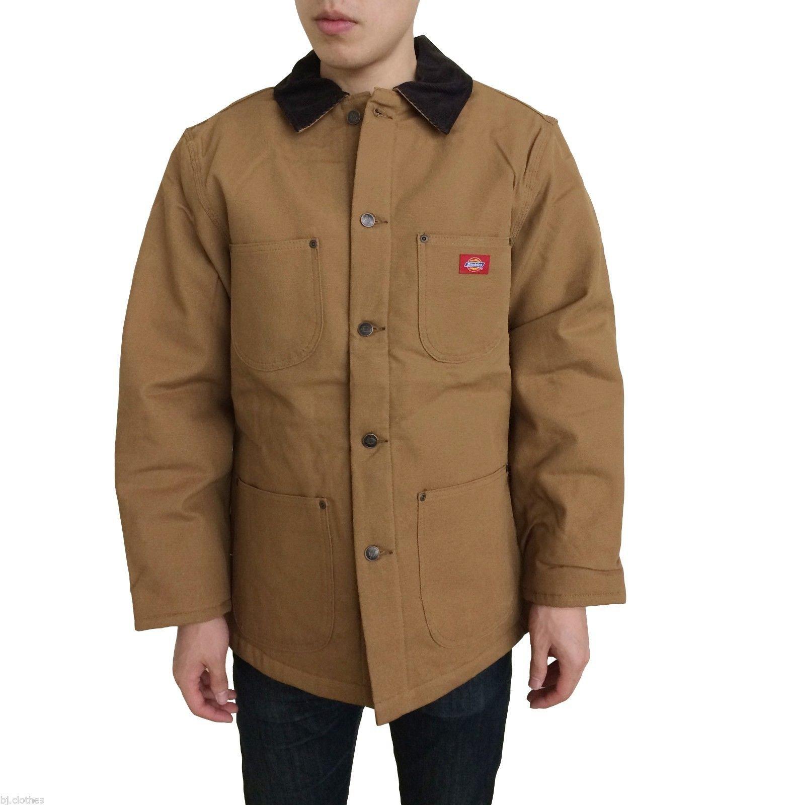 Dickies Men's 3439 Blanket Lined Chore Coat Jacket (2XL, Duck Brown)