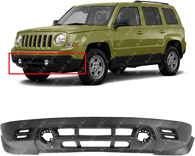 NEW FRONT UPPER BUMPER COVER PRIMED FITS 2011-2017 JEEP PATRIOT CH1014103