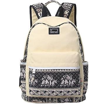 bdfba59e48c6 Ankoee Casual Backpack Canvas BackpackTravel Bag School Backpack ...