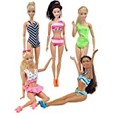 E-TING Quality Swimsuits Doll Clothes Bikini One-piece Swimsuit for Barbie Fashionistas Dolls (Style#A)