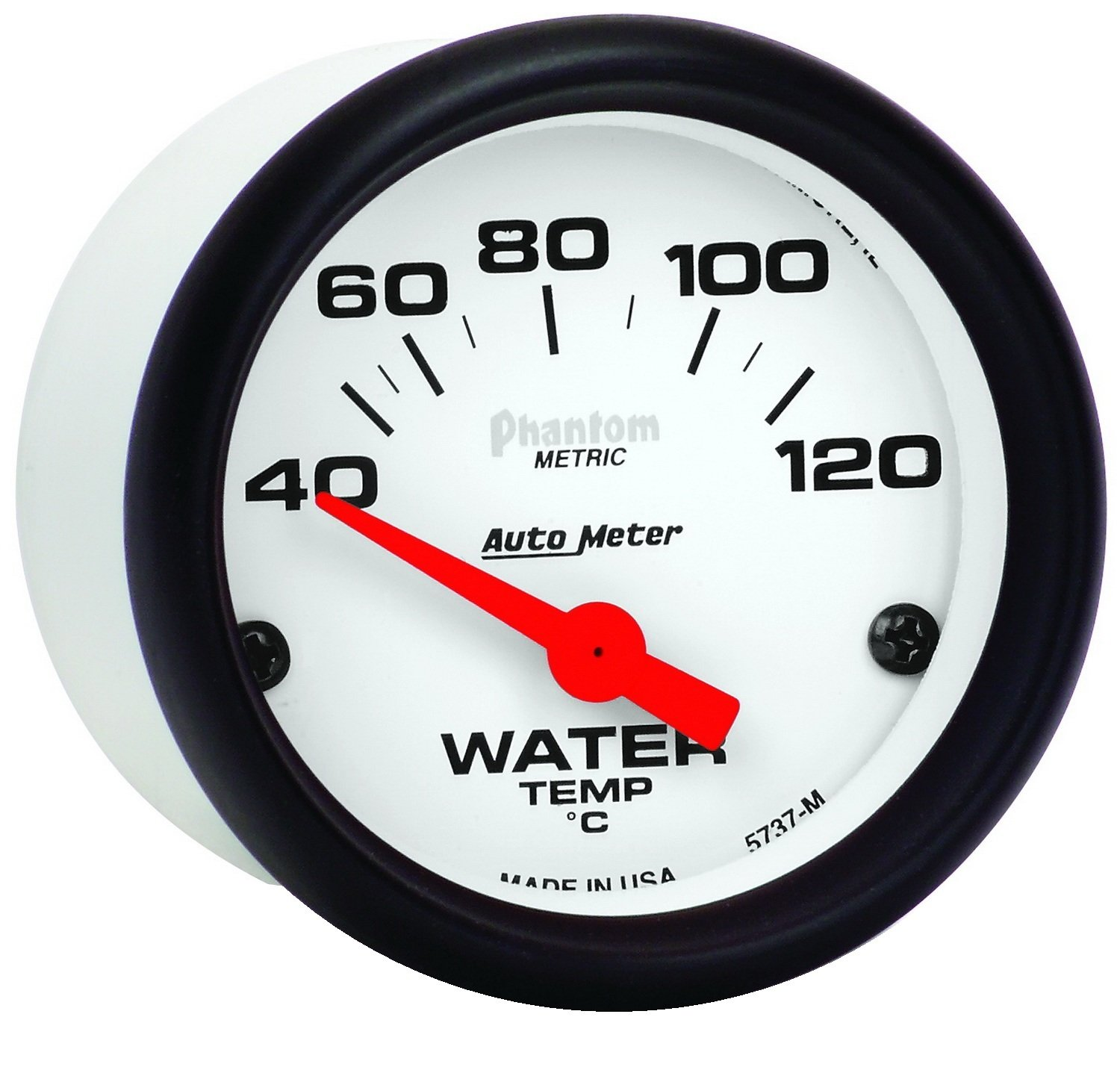Auto Meter 5737-M Phantom Electric Water Temperature Gauge
