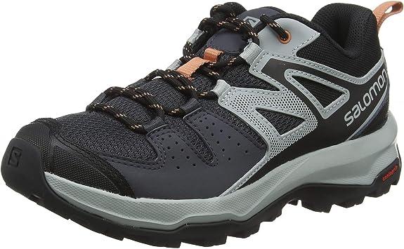 Salomon X Radiant W, Zapatillas de Senderismo para Mujer, Gris/Rosa (Ebony/Quarry/Tawny Orange), 36 EU: Amazon.es: Zapatos y complementos
