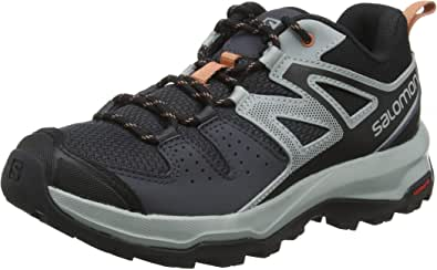 Salomon X Radiant W, Zapatillas de Senderismo para Mujer, Gris/Rosa (Ebony/Quarry/Tawny Orange), 36 EU: Amazon.es: Zapatos y complementos
