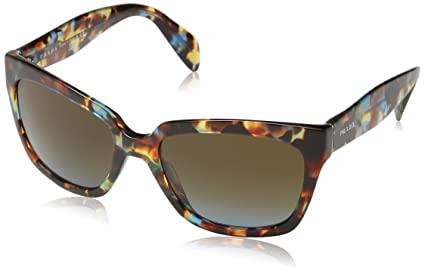 42fc00ed1f Image Unavailable. Image not available for. Color  Prada Sunglasses -  PR07PS   Frame  Havana Spotted Blue ...