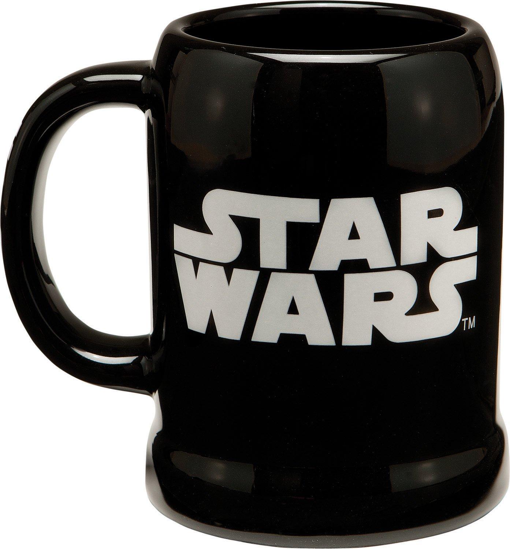 Red and White Vandor 99279 Star Wars Darth Vader 20 oz Ceramic Stein Black