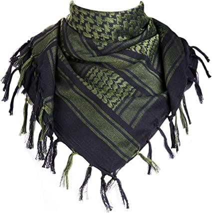 Dark Green and black check Shemagh//Keffiyeh//Kufiya sealed Ref # 5 new