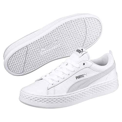 Chaussures Puma Smash Platform SD Femmes Blanc Gris