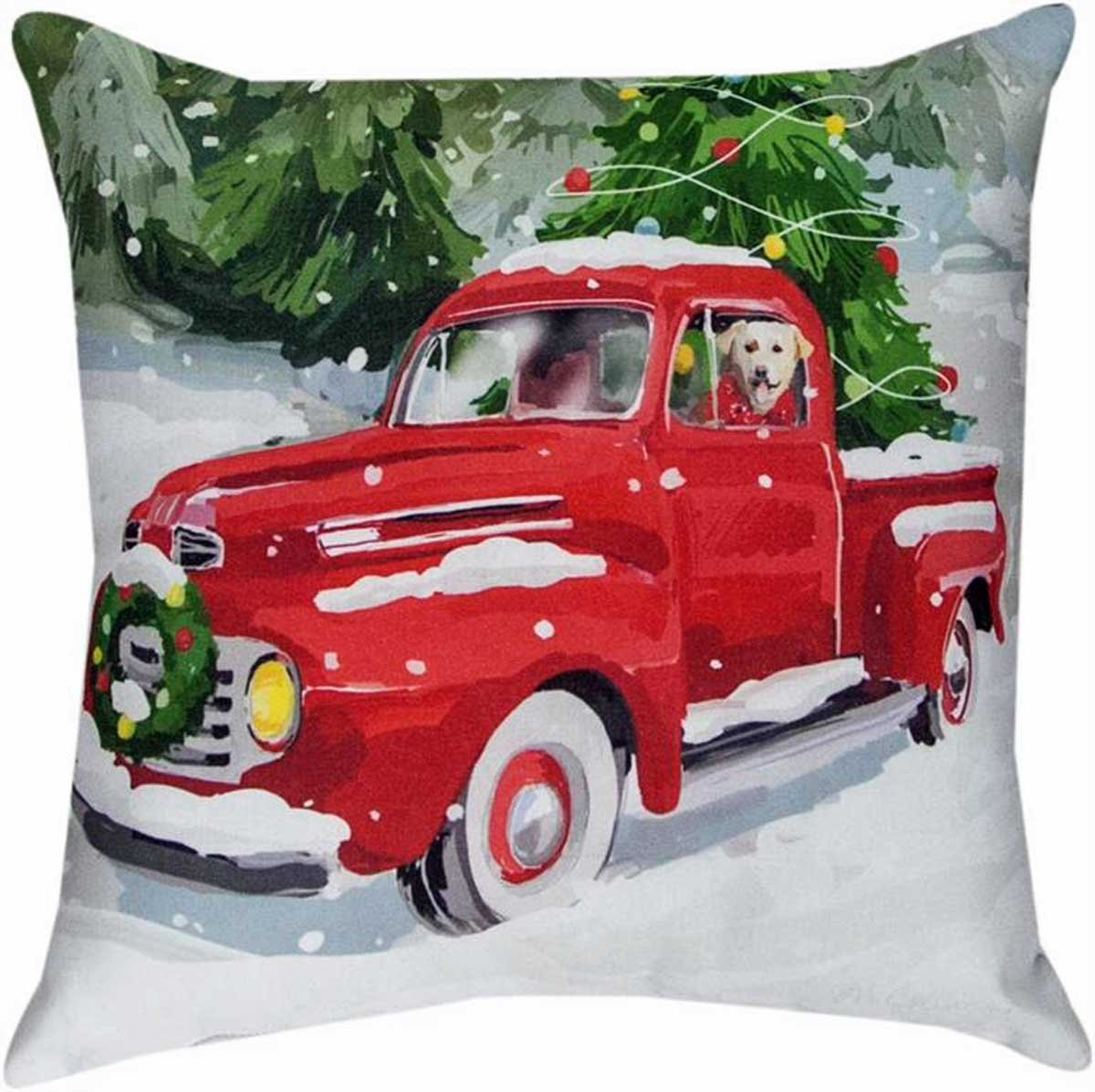 Decorative Pillows - Joy Riding Labrador Retriever Pillow - 18