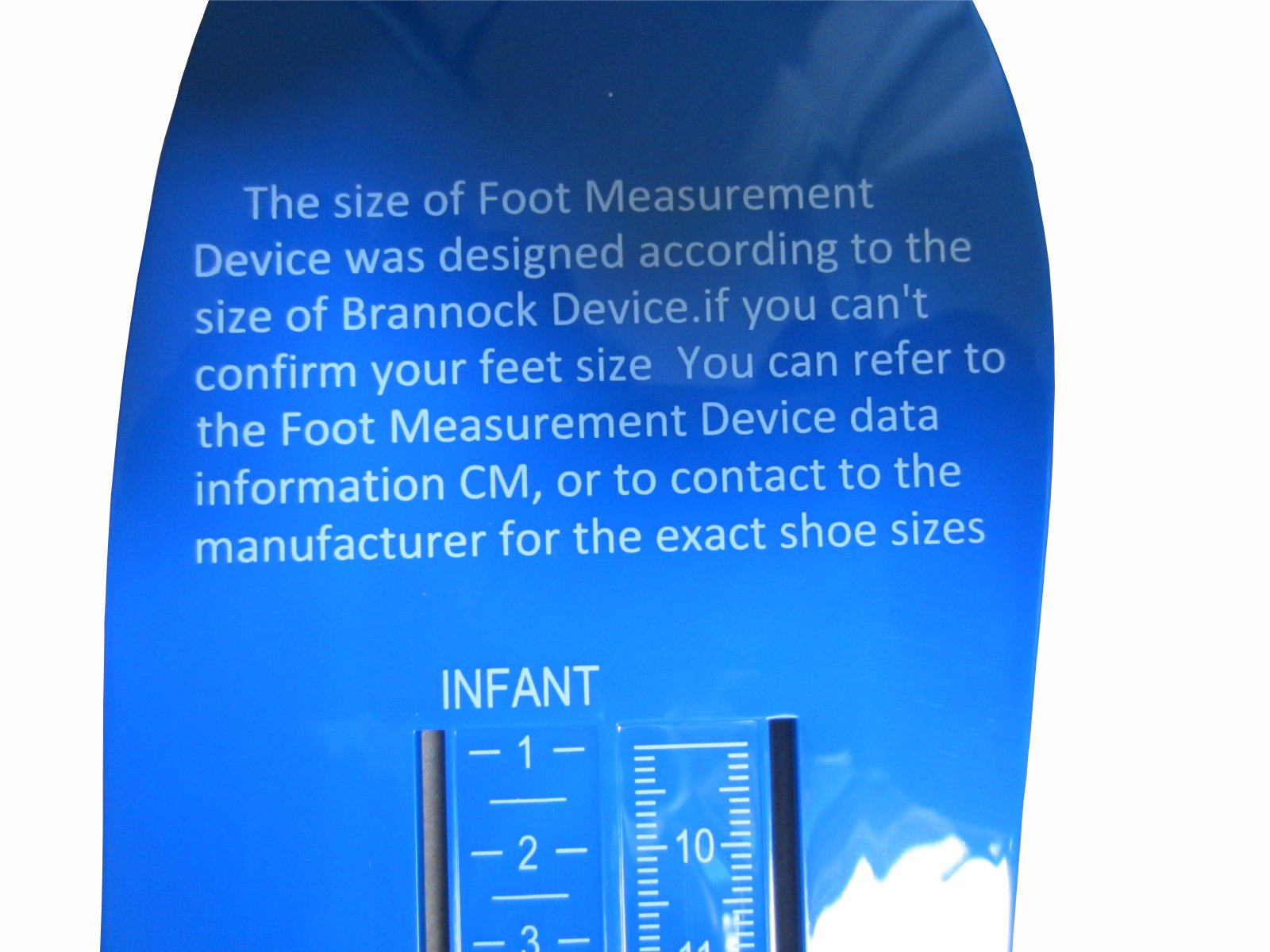 Professional Foot Measuring Gauge Children Adult Shoe Measure Tool Kids Shoes Sizer Calculator US size (Blue) by NBC practical (Image #3)