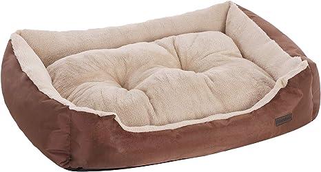 FEANDREA Cama para Perro, Sofá para Perro, 70 x 55 x 21 cm, Marrón PGW03Z: Amazon.es: Productos para mascotas
