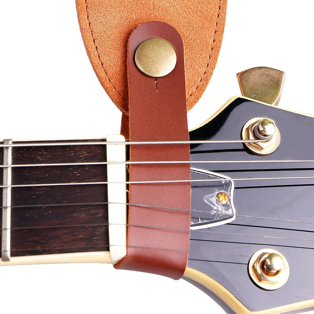 Phorcs Guitar Strap with Genuine Leather End for Acoustic Bass Ukelele and Electric Guitar - Include Guitar Picks & Strap Button & Strap Blocks & Guitar Pick Holder Bracelet by Phorcs (Image #5)
