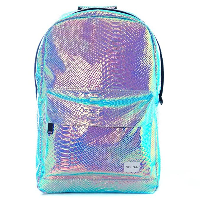 cdca8093f43 Spiral Unisex's OG Backpack, Textured Sapphire Holographic, One Size:  Amazon.co.uk: Sports & Outdoors