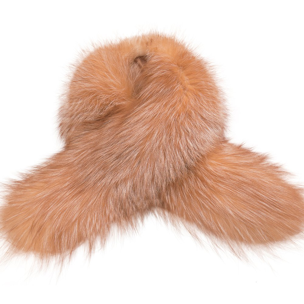 MONICA REA Women's Extral Larger Fox Fur Collar Shawl Scraf Perfect For Winter Coat by MONICA REA (Image #4)