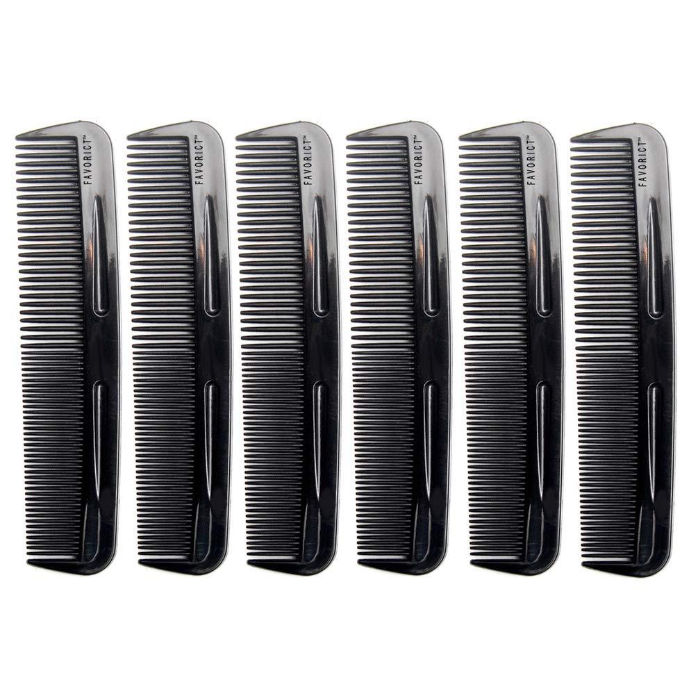 "Favorict (6 Pack) 5"" Pocket Hair Comb Beard & Mustache Combs for Men's Hair Beard Mustache and Sideburns"