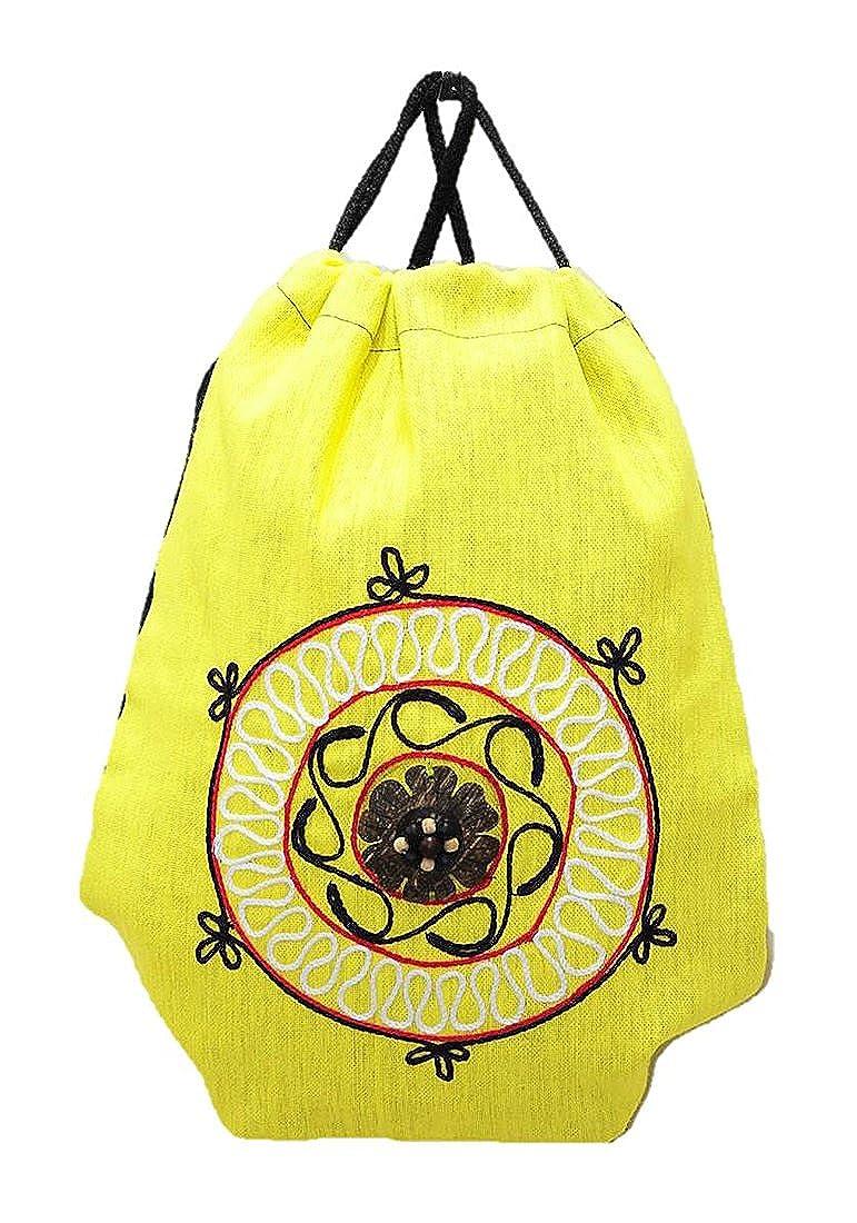 注目ブランド タイヒッピーバックパックバッグ財布ハンドメイドドローストリングツインロープCoconut Shell Flower Cotton Flower Cotton Hempジプシーボヘミアンミディアム B00PP4L50A M353 M353 (Yellow) M353 (Yellow), 葛飾柴又の食品問屋グレイト:53316820 --- arianechie.dominiotemporario.com