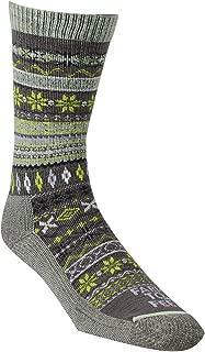 product image for Farm to Feet Women's Hamilton Lightweight Merino Wool Fair Isle Crew Socks, Sparrow, Small