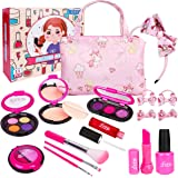 LOYO Girls Pretend Play Makeup Sets Fake Make Up Kits with Cosmetic Bag for Little Girls Birthday Christmas, Toy Makeup Set f