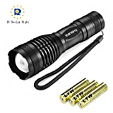 Vansky® 700 Lumen Cree XML2 T6 Led Torch Pocket Torch Adjustable Focus Tactical Flashlight Zoomable Led Light Water Resistant Camping Torch, 3 x AAA Batteries Included