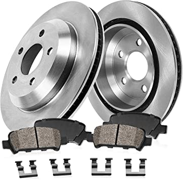 2006 Pontiac Montana FWD OE Replacement Rotors w//Ceramic Pads F+R