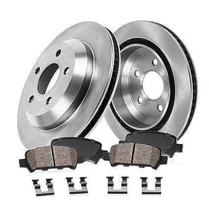 FRONT Premium Grade OE 292.76 mm 2 Low Dust Ceramic Brake Pads Rotors Pair Set