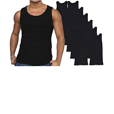 ANDREW SCOTT Men's 12 Pack Color Tank Top a Shirt at Men's Clothing store