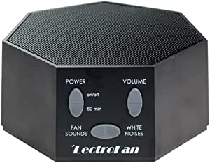 Adaptive Sound Technologies LectroFan High Fidelity White Noise Machine with 20 Unique Non-Looping Fan and White Noise Sounds and Sleep Timer (240V), Black, (ASM1007-BA)