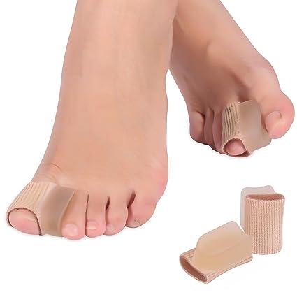 DOACT 4 pcs Gel Corrector del Dedo Gordo del Juanete Big Toe Straightener Corrector Separador Enderezadora