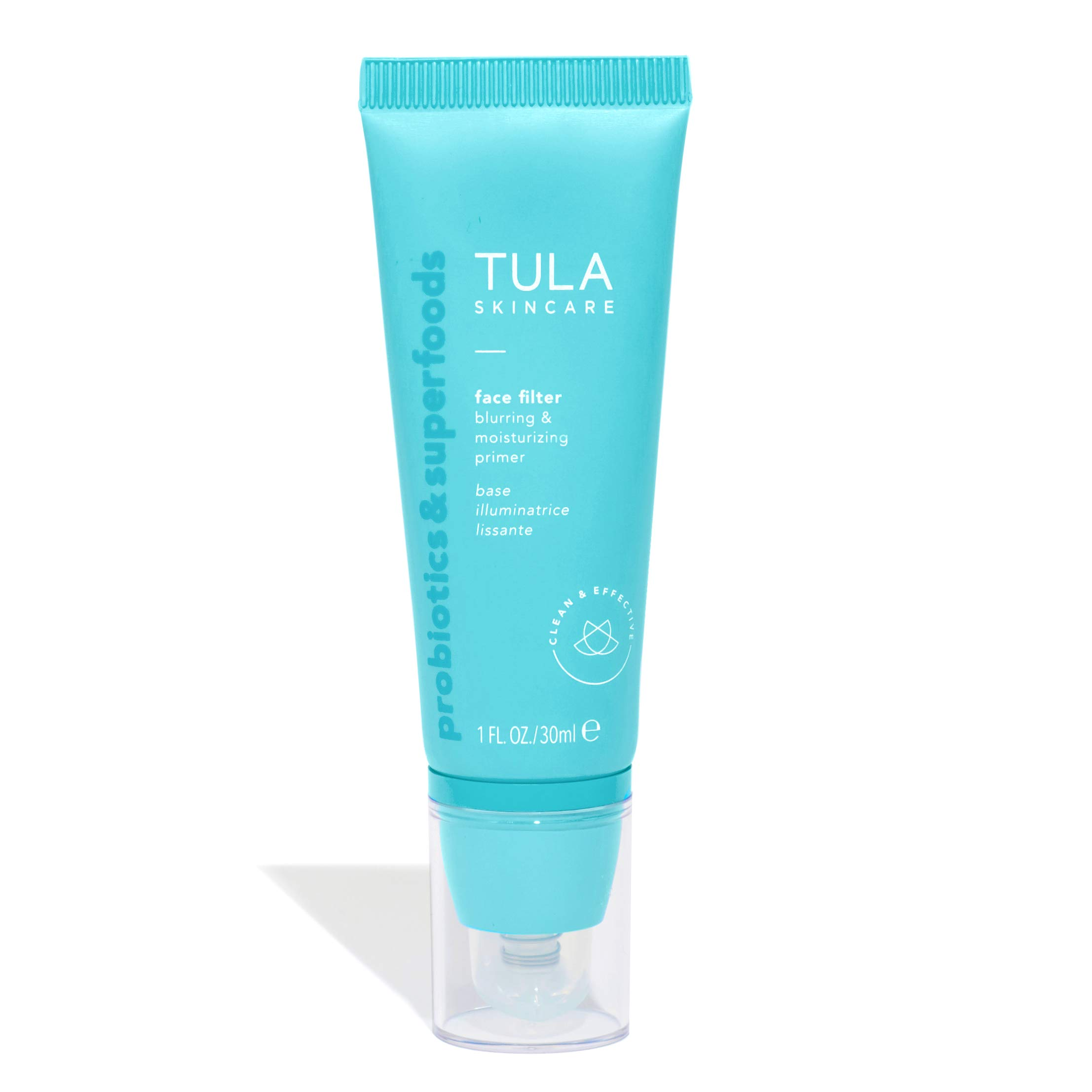 TULA Probiotic Skin Care Face Filter Blurring and Moisturizing Primer   Smoothing Face Primer, Evens the Appearance of Skin Tone & Redness, Hydrates & Improves Makeup Wear   1 fl. oz.