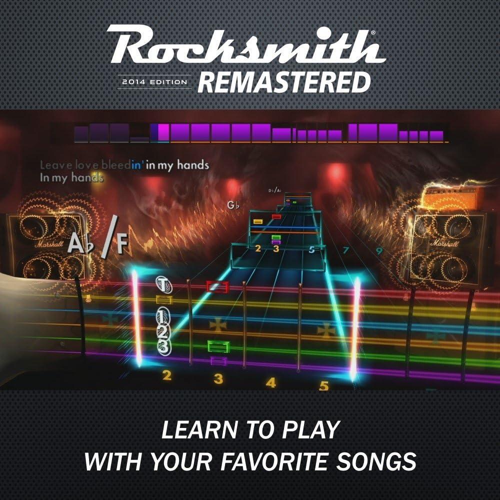 Rocksmith 2014 Edition Remastered - PlayStation 4 Standard Edition: Rocksmith 2014 Edition Remastered