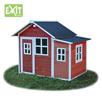 EXIT Loft 150 - casas de juguete (Floorstanding playhouse, Niño/niña, Rojo, Color blanco, Madera, EN-71): Amazon.es: Juguetes y juegos