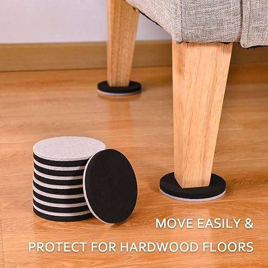 16pcs Furniture Sliders 35 Inch Felt Sliders Furniture Moving Pads