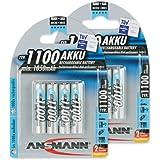 Ansmann 5035232-590  - Micro, tipo AAA 1100mAh pila altamente capacitiva profesional/multiuso, foto digital, 8 unidades