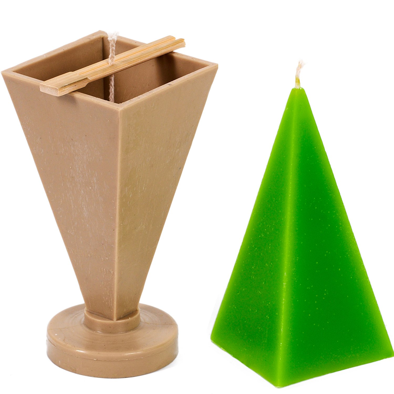 Candle Shop - Pyramid mold - height: 6.3 in, width: 2.7 in - 30 ft. of wick included as a gift - Plastic candle molds for making candles by Candle Shop (Image #1)