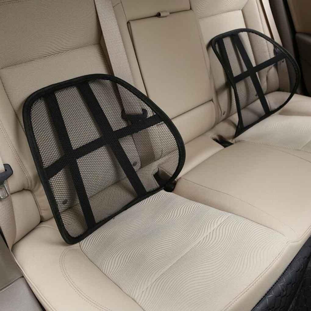 Lumbar Back Support Auto Seat Waist Care Massage Mat Mesh Ventilate Cushion Vehicle Gauze Pad Office Home Zerama