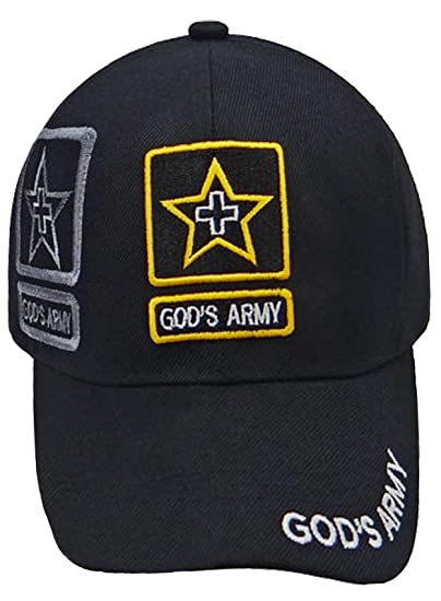Buy Caps and Hats Black Christian Hat Gods Army Baseball Cap Mens Womens  (Blk God s Army) at Amazon Women s Clothing store  f5f93db571f