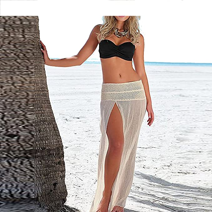 270e65dea7 Image Unavailable. Image not available for. Color: Beach Mesh Elastic Maxi  Dress ...