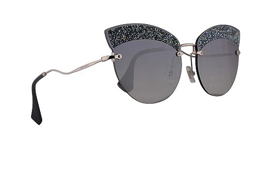 Amazon.com: Miu Miu MU58TS - Gafas de sol, color plateado y ...