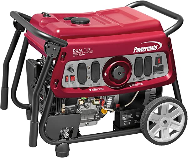 Powermate 6958 DF7500E 7500 Watt Dual Fuel Portable Generator