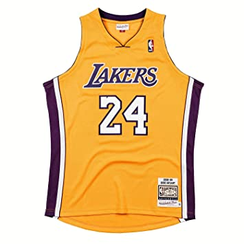 519097475ef Mitchell   Ness Kobe Bryant  24 Los Angeles Lakers 2008-09 Authentic NBA  Jersey