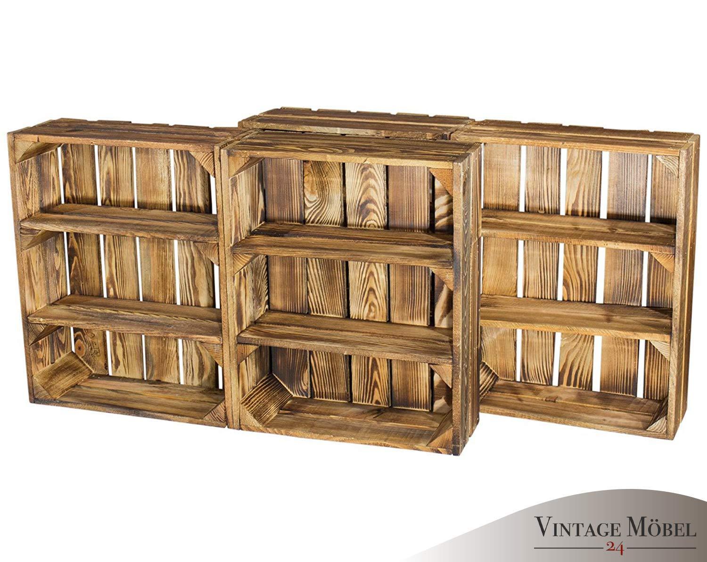 Estanter/ía plana veteada con 3 compartimentos 50 x 40,5 x 16 cm para especias y fruta estanter/ía de presentaci/ón estanter/ía de madera de pared