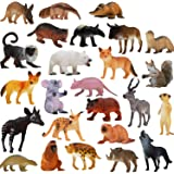 ValeforToy Animals Figure, 25 Piece Realistic Looking Animals Toys Set(4 inch), Jungle Wild Vinyl Plastic Animal…