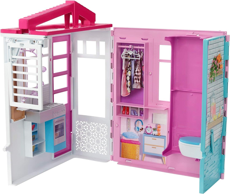 Barbie Casa de muñecas con accesorios, regalo para niñas y niños 3-9 años (Mattel FXG54)