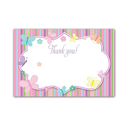Amazon Com 30 Blank Thank You Cards Pastel Colors Stripes Lines