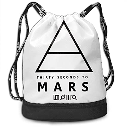f5ff0c3dfca5 Amazon.com: NNJD Thirty Seconds to Mars Logo Drawstring Bag Bundle ...