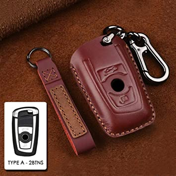 1x Car Key Fob Holder Bag Black Leather Cover Case For BMW Series 1 3 4 5 6 7 X3