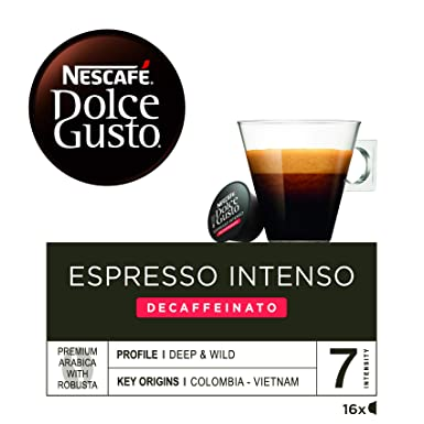 Nescafé Dolce Gusto - Espresso intenso descafeinado - Cápsulas de Café - 16 Cápsulas